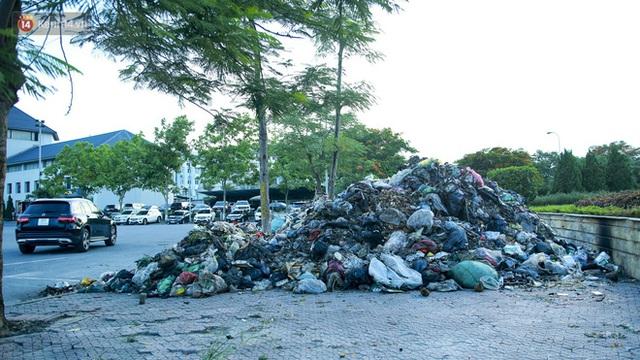 Những núi rác ngày một cao giữa Hà Nội khiến ai đi qua cũng phải bịt mũi, nín thở - Ảnh 1.