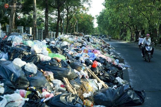 Những núi rác ngày một cao giữa Hà Nội khiến ai đi qua cũng phải bịt mũi, nín thở - Ảnh 8.