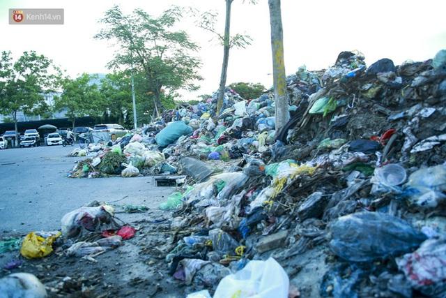 Những núi rác ngày một cao giữa Hà Nội khiến ai đi qua cũng phải bịt mũi, nín thở - Ảnh 11.