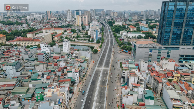 Clip, ảnh: Người Hà Nội thích thú với diện mạo mới của đường Trường Chinh đau khổ - Ảnh 2.