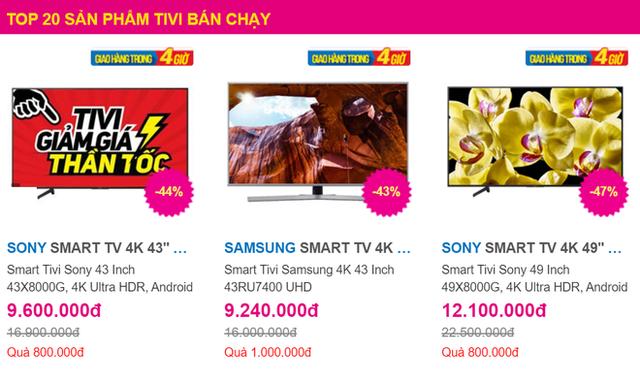 Top tivi 4K bán chạy nhất giảm giá sâu tới 50% trong tháng 7, có chiếc chỉ 9 triệu đồng - Ảnh 1.