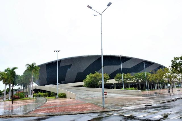 Ảnh: Cận cảnh cung thể thao sẽ trở thành bệnh viện dã chiến chống Covid-19 ở Đà Nẵng - Ảnh 3.