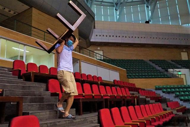 Ảnh: Cận cảnh cung thể thao sẽ trở thành bệnh viện dã chiến chống Covid-19 ở Đà Nẵng - Ảnh 12.