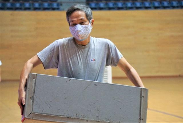 Ảnh: Cận cảnh cung thể thao sẽ trở thành bệnh viện dã chiến chống Covid-19 ở Đà Nẵng - Ảnh 15.