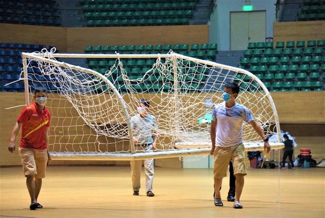 Ảnh: Cận cảnh cung thể thao sẽ trở thành bệnh viện dã chiến chống Covid-19 ở Đà Nẵng - Ảnh 7.
