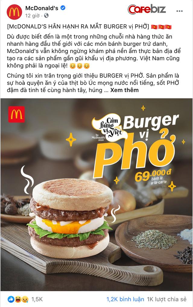 Mượn cảm hứng ẩm thực Việt như pizza bún đậu mắm tôm, pizza chả cá, McDonalds lần đầu ra mắt burger vị phở - hoà quyện thịt bò Úc với sốt Phở cùng húng quế, ngò gai - Ảnh 1.