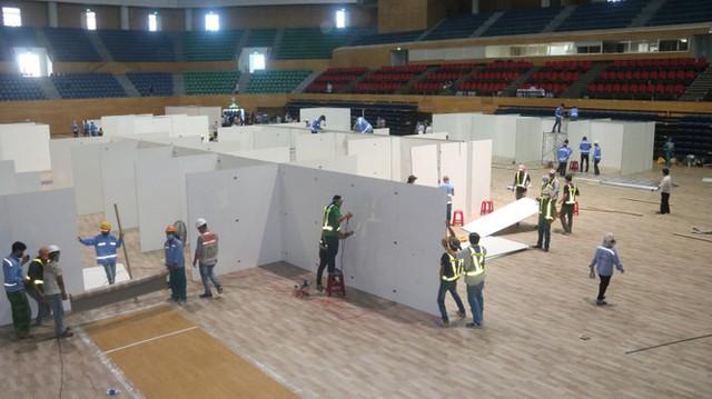 4 ngày 'biến' Cung thể thao rộng 94 nghìn m2 thành bệnh viện dã chiến  - Ảnh 5.