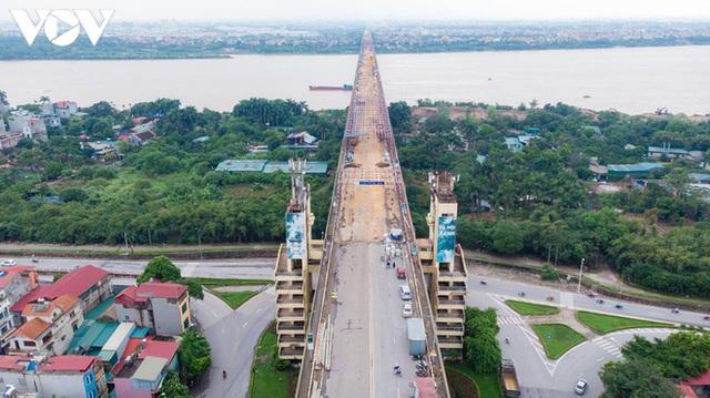 Toàn cảnh đại công trường sửa chữa cầu Thăng Long, Hà Nội - Ảnh 1.