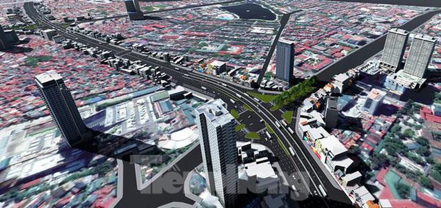 Hình ảnh thiết kế cầu vượt nút giao La Thành - Nguyễn Chí Thanh - Ảnh 3.