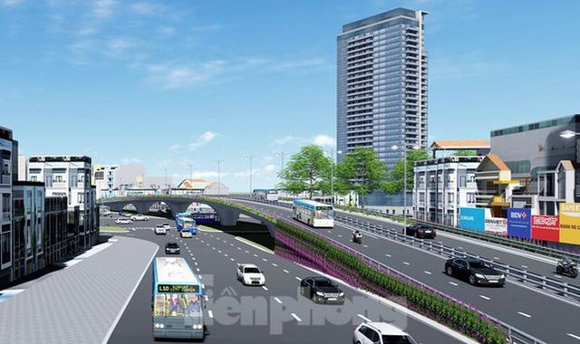 Hình ảnh thiết kế cầu vượt nút giao La Thành - Nguyễn Chí Thanh - Ảnh 5.