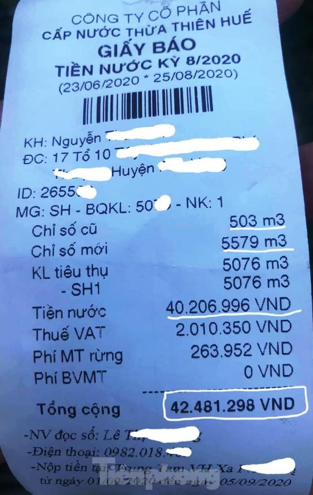 Vụ giấy báo tiền nước 42 triệu đồng ở Huế: Xử lý nhân viên thu ngân ra sao? - Ảnh 2.