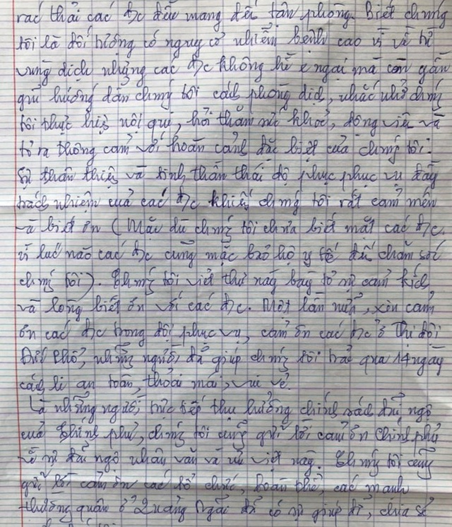 Lay động lá thư cảm ơn của 97 công dân về từ vùng dịch trong khu cách ly - Ảnh 3.