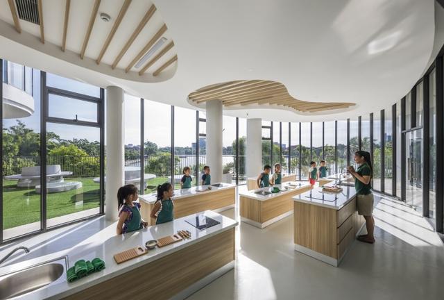 Một trường mẫu giáo tuyệt đẹp ở Vinh vừa xuất sắc thắng giải thưởng được tổ chức bởi Viện Kiến trúc sư Úc - Ảnh 5.