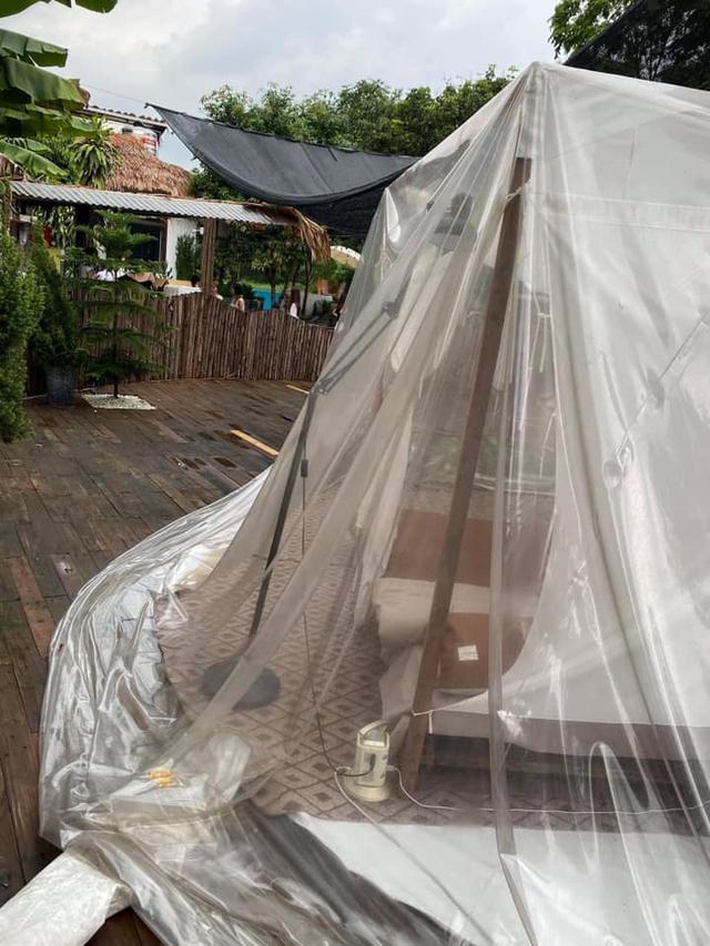 Trải nghiệm đi nghỉ cuối tuần hú hồn ở ngoại ô Hà Nội: Book villa 6 triệu/ đêm có nhà bong bóng ảo diệu giống Bali, khách ngơ ngác nhận phòng y như cái lều vịt - Ảnh 4.