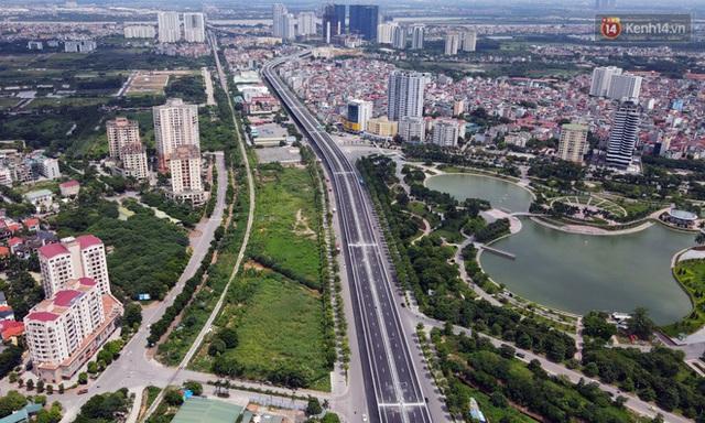 Cận cảnh cầu cạn Mai Dịch - Nam Thăng Long đã rải nhựa xong chờ ngày thông xe - Ảnh 4.