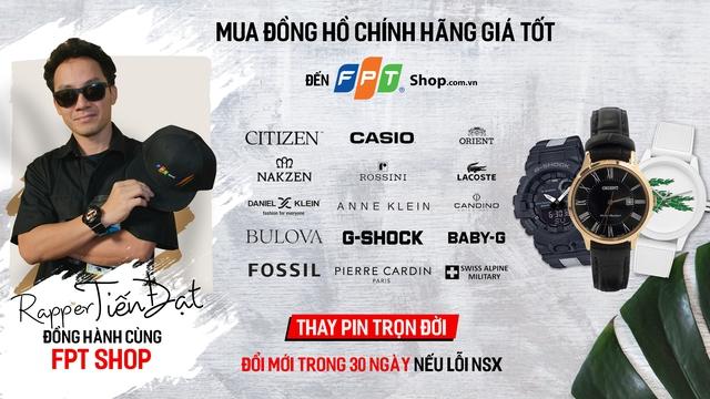 FPT Shop hợp tác cùng Rapper Đinh Tiến Đạt trình làng bài rap về đồng hồ - Ảnh 1.