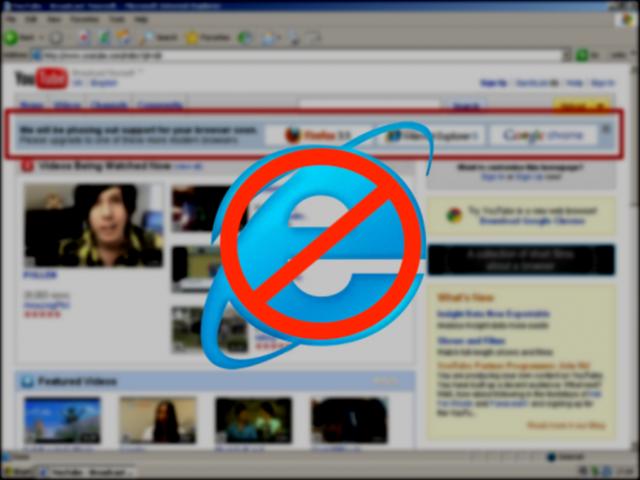 'Mưu hèn, kế bẩn' của YouTube: Đẩy Internet Explorer vào chỗ chết chỉ bằng vài dòng chữ - Ảnh 1.