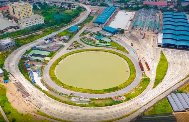 Flycam: Toàn cảnh tuyến đường sắt trên cao Nhổn - ga Hà Nội sắp đi vào hoạt động - Ảnh 6.