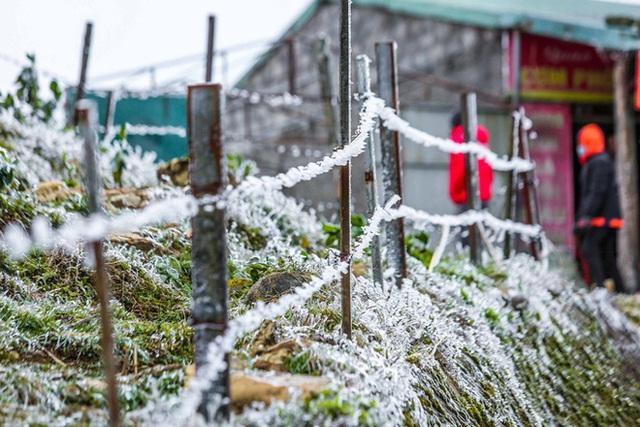 Hàng ngàn du khách bất chấp rét buốt lên đỉnh Mẫu Sơn ngắm băng tuyết - Ảnh 15.