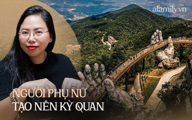 """Ái Thủy - nữ kiến trúc sư tạo nên cây Cầu Vàng """"made in Vietnam"""" làm kinh ngạc khắp thế giới và lần đầu nghe kể về ý nghĩa thật sự của đôi bàn tay khổng lồ - Ảnh 1."""