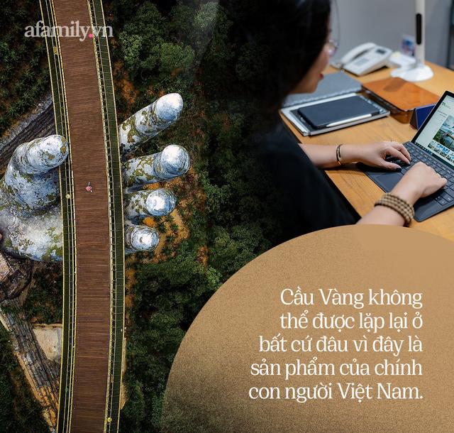 """Ái Thủy - nữ kiến trúc sư tạo nên cây Cầu Vàng """"made in Vietnam"""" làm kinh ngạc khắp thế giới và lần đầu nghe kể về ý nghĩa thật sự của đôi bàn tay khổng lồ - Ảnh 13."""