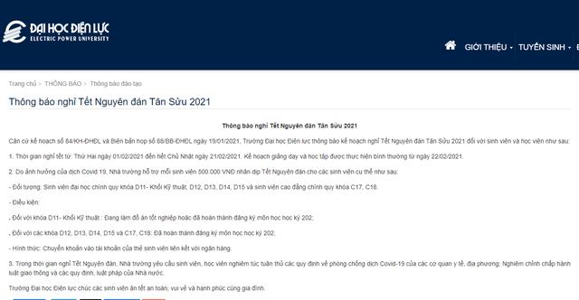 Một trường Đại học Hà Nội lì xì mỗi sinh viên 500.000 đồng dịp Tết Nguyên đán - Ảnh 1.