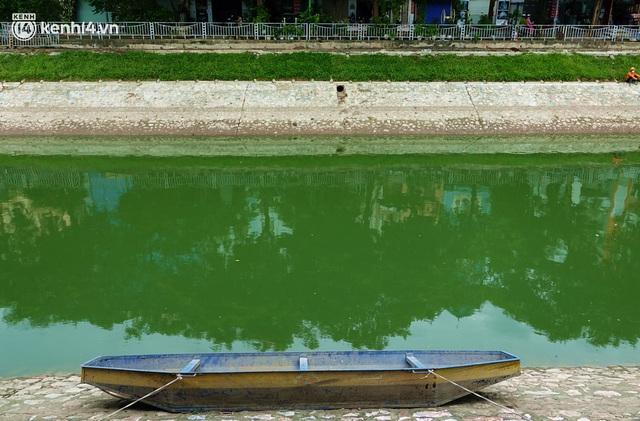 Hà Nội: Sông Tô Lịch bất ngờ chuyển màu xanh ngắt, người dân mang theo bao bắt hàng trăm cân cá đem về - Ảnh 3.