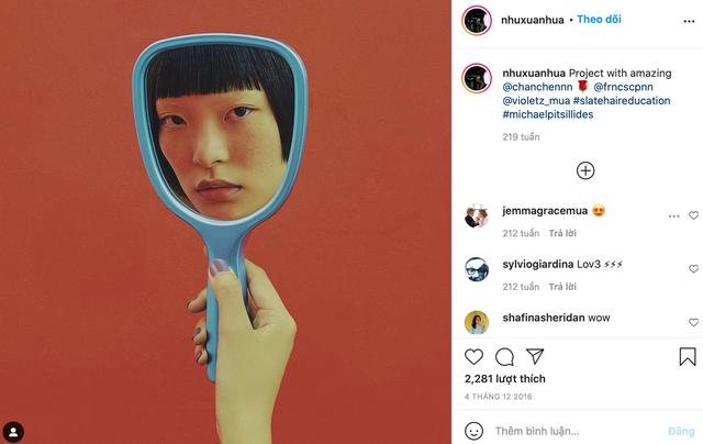 Gucci bị nghệ sĩ gốc Việt tố ăn cắp ý tưởng: Đạo nhái hình gốc từ năm 2016, giống từ cách chụp cận mặt người mẫu qua chiếc gương tay, đến bố cục, phông nền - Ảnh 2.