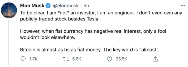 Elon Musk tiết lộ lý do Tesla đầu tư 1,5 tỷ USD vào Bitcoin - Ảnh 2.