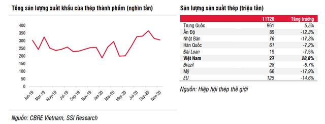 Ngành thép Việt Nam tăng trưởng hơn 100% trong năm 2020 nhờ những yếu tố nào? - Ảnh 2.
