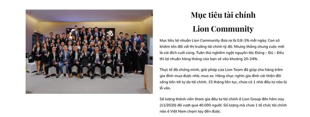 Cảnh báo mô hình đầu tư forex Lion Group: Tuyên bố ngồi không cũng lãi 20-24%/tháng, hơn 40.000 nhà đầu tư chưa ai bị lỗ đồng nào? - Ảnh 1.