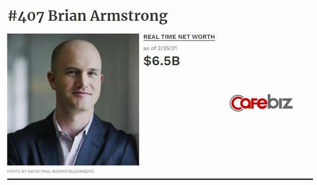 CEO Coinbase: Người sẽ càng giàu khi càng có nhiều người chơi tiền số, 34 tuổi ký cam kết cho đi gần hết tài sản, cả cuộc đời xem Bitcoin là 'mối tình đầu' - Ảnh 1.