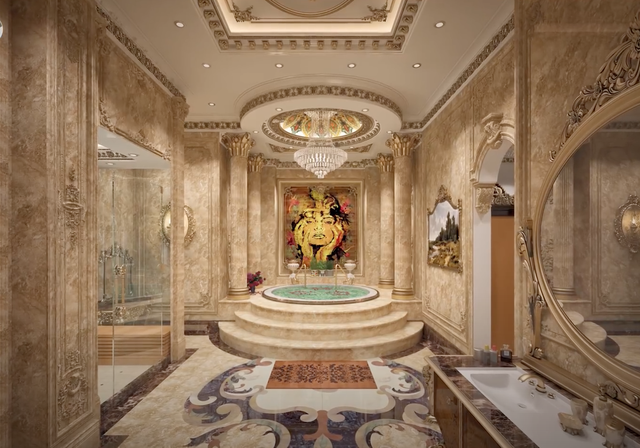 Lạc lối trong cung điện lớn nhất ĐNA của đại gia Thành Thắng Group: Cao bằng toà nhà 18 tầng, 20 phòng ngủ, dát vàng khắp nơi  - Ảnh 11.