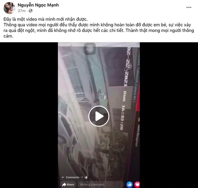 Một clip góc khác cho thấy Nguyễn Ngọc Mạnh đã vất vả và nỗ lực đến thế nào khi cố gắng cứu em bé - Ảnh 2.