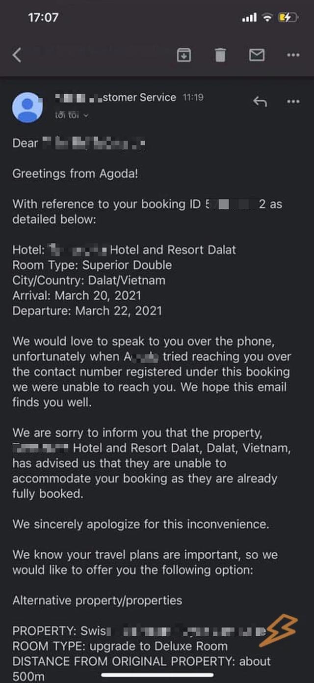 Một cú lừa từ ứng dụng đặt khách sạn nổi tiếng: Bị tố làm việc mất uy tín và kém chuyên nghiệp, nhận tiền nhưng không đặt phòng, tự ý hủy phòng trước giờ check-in của khách?  - Ảnh 3.