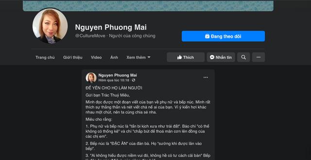 MC Trác Thuý Miêu phát ngôn đàn bà không làm việc nhà thì làm được cái gì, tiến sĩ Nguyễn Phương Mai phản biện sâu sắc, thâm thuý dậy sóng cộng đồng mạng - Ảnh 5.