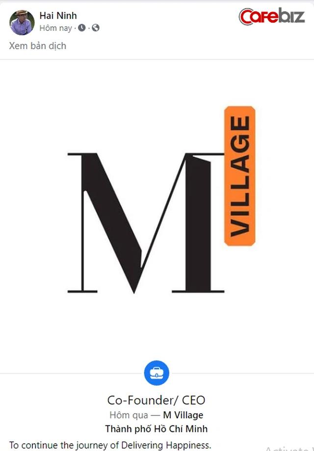 Rời The Coffee House, Nguyễn Hải Ninh tiếp tục startup dự án mới chuyên về căn hộ dịch vụ M Village - Ảnh 1.