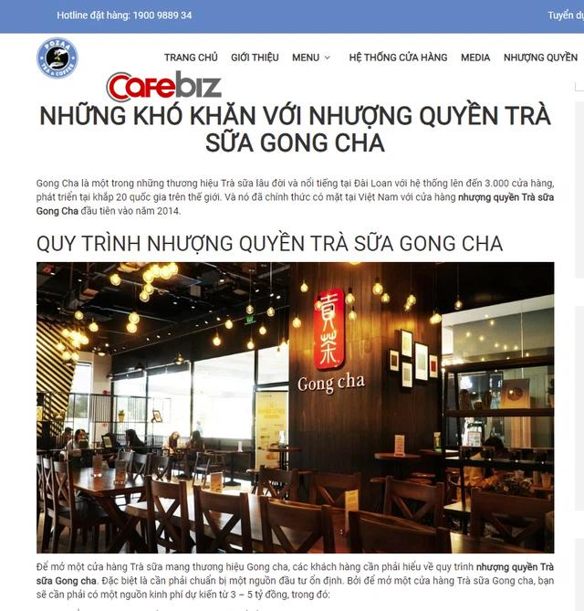 Cạnh tranh kiểu trà sữa Pozza Tea: Chê Gong Cha nhượng quyền mất 3-5 tỷ đồng, khuyên nhà đầu tư chọn Pozza Tea vì chi phí bỏ ra chỉ từ 300 triệu đồng - Ảnh 1.