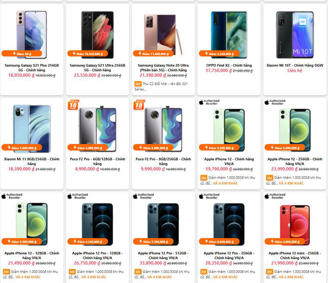 """Loạt iPhone 12 và điện thoại 5G cao cấp đồng loạt giảm giá """"thảm"""" - Ảnh 1."""
