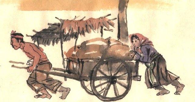 Trong tác phẩm Vợ Nhặt của nhà văn Nam Cao, vợ của Tràng ăn liền mấy bát bánh đúc? - Ảnh 2.