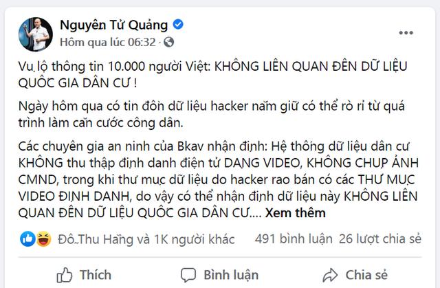 CEO Nguyễn Tử Quảng lẳng lặng cho bài viết bay màu sau nhận định Pi Network bán dữ liệu CMND? - Ảnh 1.