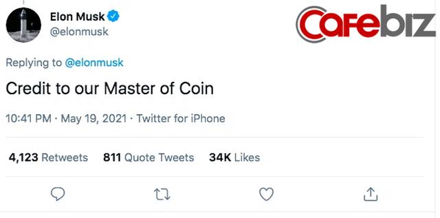 Elon Musk có động thái cứu thị trường, tweet khen ngợi 'Master of coin' - Ảnh 2.