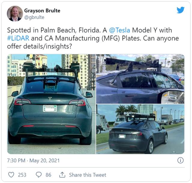 Elon Musk gọi công nghệ Lidar là trò lừa đảo, nhưng giờ Tesla lại đang thử nghiệm nó trên xe của mình - Ảnh 1.