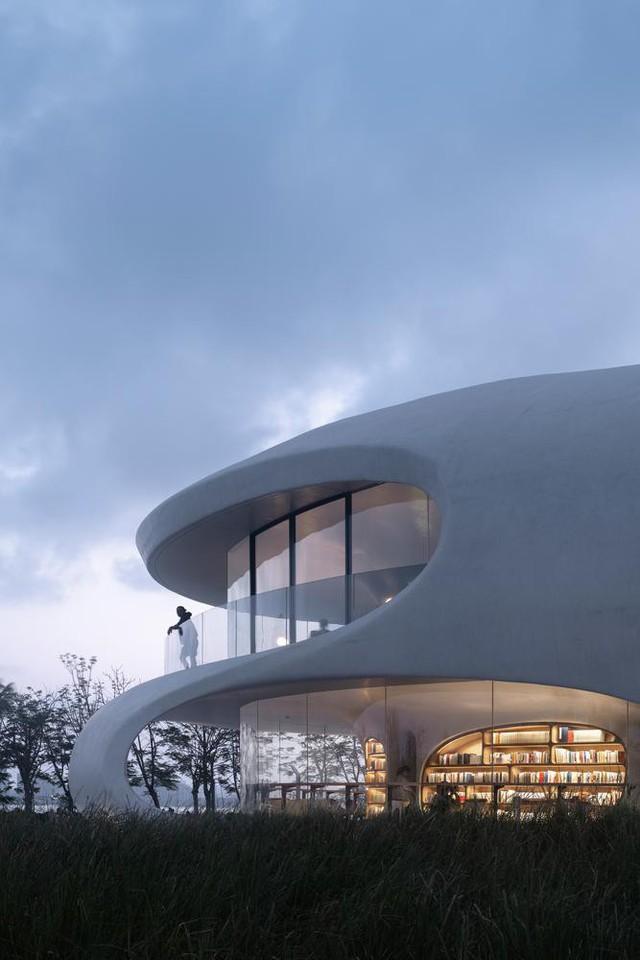 Thư viện nằm bên bờ biển có cấu trúc độc lạ, có một không hai - Ảnh 2.