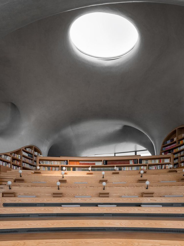Thư viện nằm bên bờ biển có cấu trúc độc lạ, có một không hai - Ảnh 8.