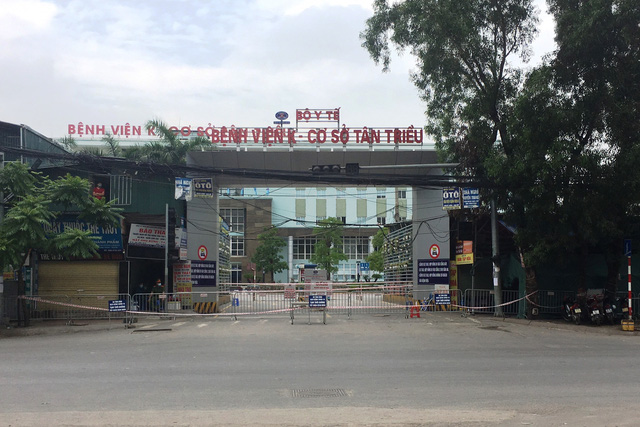 [Chùm ảnh]: Bệnh viện K - cơ sở Tân Triều, Hà Nội sau khi bị phong toả và cách ly - Ảnh 1.