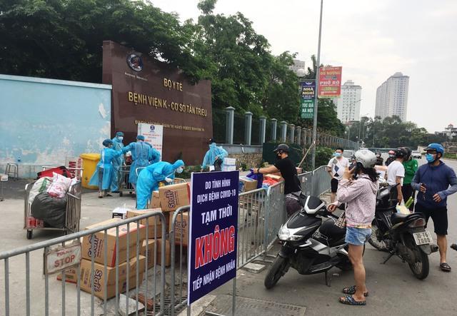 [Chùm ảnh]: Bệnh viện K - cơ sở Tân Triều, Hà Nội sau khi bị phong toả và cách ly - Ảnh 5.