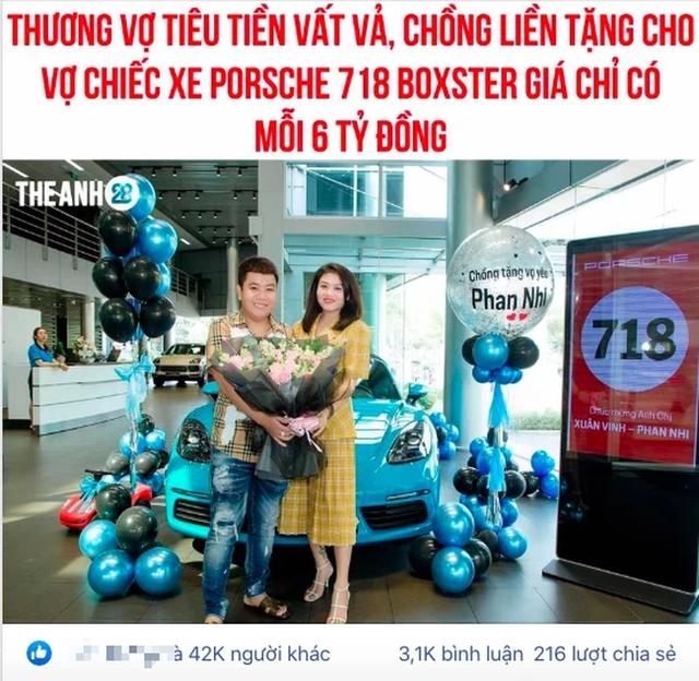 Chồng mua xe 6 tỷ tặng vợ hút 42 nghìn like MXH và câu chuyện đằng sau cực ngầu - Ảnh 1.