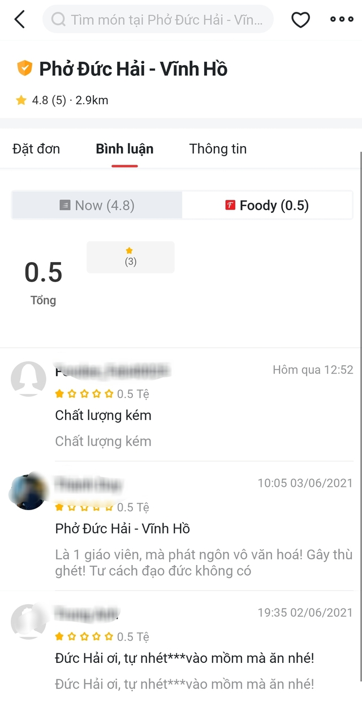 Vạ miệng trên mạng xã hội, quán phở của Nghệ sĩ Đức Hải ở Sài Gòn hứng bão 1 sao, thậm chí một quán trùng tên ở Hà Nội cũng bị vạ lây - Ảnh 2.