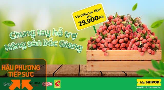 Big C Việt Nam và Grab bắt tay hỗ trợ bán vải thiểu Bắc Giang online, giá rẻ lại còn free ship - Ảnh 1.